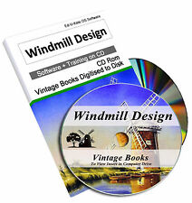 Rare Windmill Design Books on DVD - Build Engineering History Construction 224