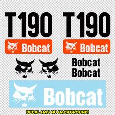 Bobcat T190 T 190 New Skid Steer Set Vinyl Decal Sticker Free Shipping