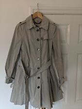 Burberry London Grey Trench Coat with belt - Size UK 8 EUR 40