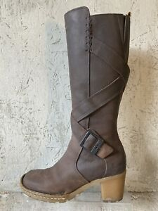 Dr Martens Brown Oiled Leather X-Strap & Buckle Tall Boots Women's EU 37 US 6