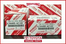 2002-2020 TOYOTA 4RUNNER FRONT & REAR BRAKE PADS GEN OEM 04465-AZ100/04466-AZ103