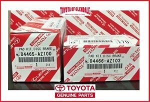 2002-2020 TOYOTA 4RUNNER FRONT & REAR BRAKE PADS GEN OEM 04465-AZ200/04466-AZ103
