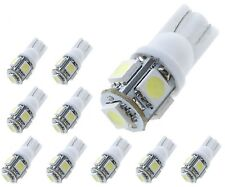 10 x HID White 360° 5-SMD 168 194 2825 LED Bulbs For License Plate Lights