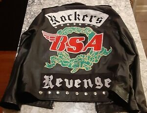 BSA Jacket George Michael Rockers Revenge Faux Leather Jacket M