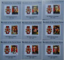 Marshals of Russia in World War II SET 9 SOUVENIR SHEETS #VG1001/17