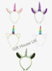 Unicorn Horn Headband Girl Ladies Hair Halloween Fancy Dress Party Headband