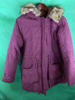 Mancie Women's Purple Parka Jacket Size Large Nwt