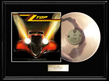 Zz Top Eliminator White Gold Platinum Tone Record Lp Album Non Riaa Award