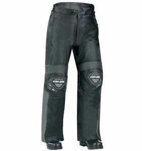 Can-Am Spyder Motorcycle GT Leather Riding Pants Men's 2XL Black/Gray 4414001607
