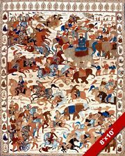 BATTLE OF KARNAL INDIA PAINTING PERSIAN INDIAN WAR RUG ART REAL CANVAS PRINT