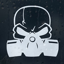 Skull Head In Gas Mask Car Or Laptop Decal Vinyl Sticker For Bumper Window Panel