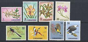 SINGAPORE 1963 definitives (FLOWERS BIRDS) VF MLH
