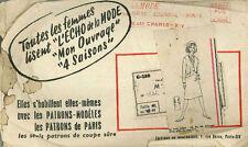 Ensemble vintage motif de couture français g288 taille 48