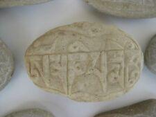 Tibetan Prayer Stone ~ hand carved rock, Buddhist OM mantra
