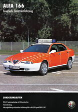 Prospekt Alfa Romeo 166 Feuerwehr Einsatzleitfahrzeug 1/99 brochure fire 1999