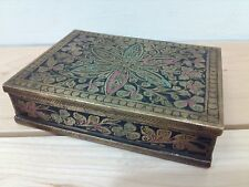 Antique Brass Cigarette Case Made in British India