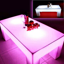 RECTANGULAR XAVIER LED LIGHT COFFEE TABLE OUTDOOR & INDOOR WITH REMOTE CONTROL