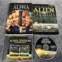 Sid Meier's Alpha Centauri Planetary Pack PC Game Boxed CD-Rom + Alien Crossfire