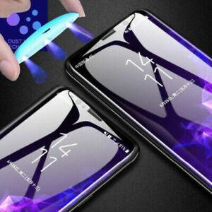 Full Glue UV Liquid Tempered Glass Screen Protector Samsung S9 S10 S20 S21+Ultra