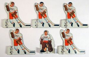 Vintage Munro NHL DETROIT RED WINGS Table Hockey METAL-Tin Players-Complete SET