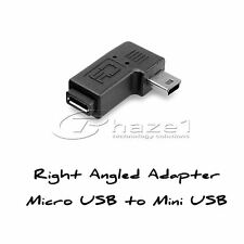 Micro USB to Mini USB 90 Degree Angled Adapter Left