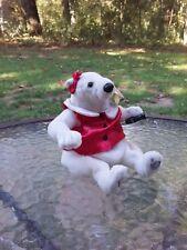 Coca Cola Coke Bean Bag Beanie Plush Bear & Bottle 2000 Red Satin Bow Vest W Tag