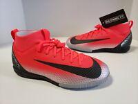 Nike JR Superfly 6 Academy CR7 Ronaldo IC Bright Crimson Black Chrome AJ3110 600