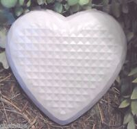 "Heart stepping stone mold  7.5"" x 7.5""  x 1.25"" thick reusable mould"