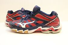 New listing Women's Mizuno Wave Lightning RX3 Volleyball Shoes Size 9.5 Red White Blue
