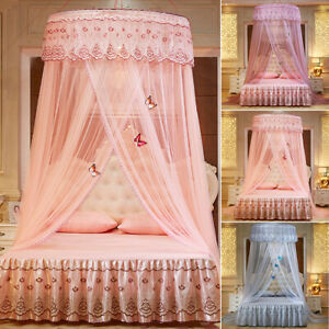 Ceiling-Mounted Mosquito Net Free Installation Dome Foldable Bed Canopy