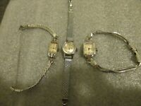 LOT 3 OMEGA DEVILLE/BULOVA /GRUEN PRECISION 1950s WOMENS SWISS WATCHES-RUN GREAT