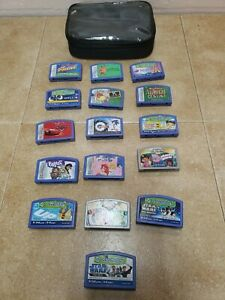 Lot of 16 Leap Frog Leapster Games Disney, Sonic X, Dora, Puzzled, Star Wars