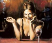 ZOPT862 100% hand painted smiling girl drink art OIL PAINTING art on CANVAS