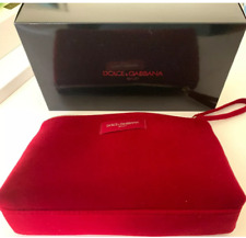 DOLCE & GABBANA Makeup Cosmetic Red Velvet Zippered Pouch Bag VIP GIFT