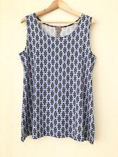 Chicos Easywear Blue Geometric Simple Layering Tank Top Women Medium Size 1
