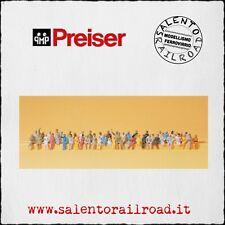 PREISER 14400 set personaggi: 48 figure sedute - scala 1/87
