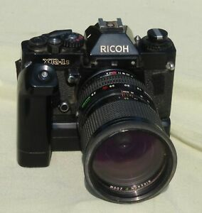 RICOH XR-1s 35mm Film Camera 1:4 Macro Lens w/Fully Automatic Shutter Attachment