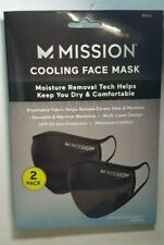 Mission Cooling Face Mask pack of 2 New Black