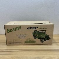 Vintage Jim Beam Army Jeep Decanter w/ Box Empty - Excellent Condition Display