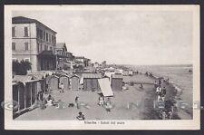 RIMINI CITTÀ 175 VISERBA - SPIAGGIA BAGNI Cartolina viaggiata 1926