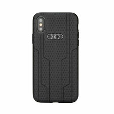 IPhone XS MAX Housse Audi Backcover a6 série Sythetic Leather/kunstleer Noir