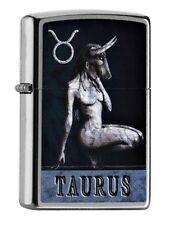 "ZIPPO 2016 NEW !! ""ZODIAC TAURUS"" SATIN LIGHTER / 60000979 *in BOX* HOROSCOPE"