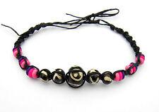 Armband mit Naturmaterialien Pink Rosa Surferarmband Wasserfest Armbändchen Neu