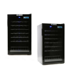 30 Bottle 1 Door Wine Cooler Fridge Cabinet Chiller Cellar 95 Litres Storage