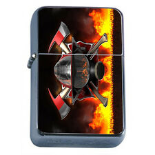 Firefighters D18 Windproof Dual Flame Torch Lighter Refillable Heros