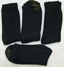 S72 - Gold Toe Socks, Ribbed Heavy Crew Socks Black 4 Pack 10-13