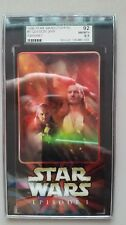 1999 STAR WARS TOPPS #5 QUI-GON JINN EPISODE I WIDEVISION CARD SGC 92 NMMT+ 8.5