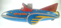 "MF-742  SPACE PATROL ""ROBOT PILOT"" SHIP FRICTION TIN TOY"