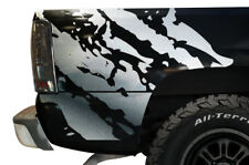 Custom Vinyl Decal Graphics Wrap Kit RIPPED for 1999-2007 Chevy Silverado SILVER