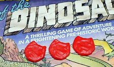 VINTAGE WADDINGTONS LOST VALLEY OF THE DINOSAURS 3X SPARE LAVA PIECES BOARDGAME